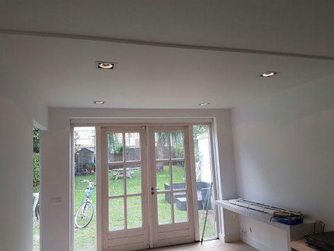 Inbouwverlichting in een woonhuis