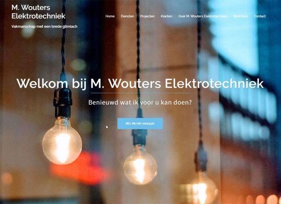 Nieuwe website voor M Wouters Elektrotechniek