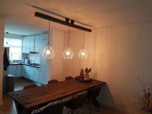 Van 3 hanglampen 1 gemaakt